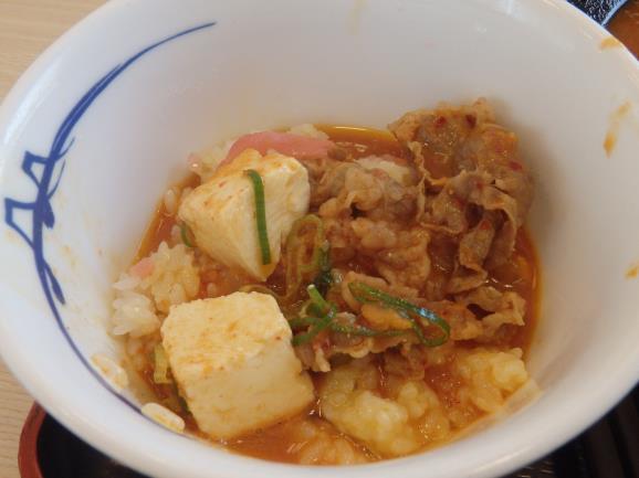 松屋の豆腐キムチチゲ膳     門真店_c0118393_126965.jpg