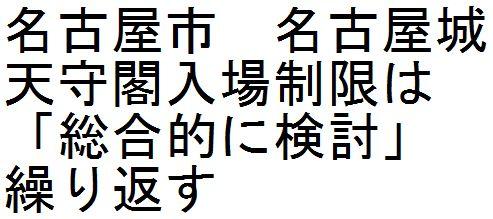 名古屋市 名古屋城天守閣入場制限は「総合的に検討」繰り返す_d0011701_21271786.jpg
