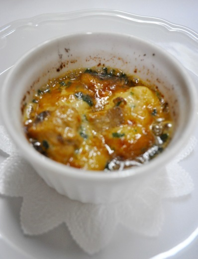 里芋とリコッタのマルファッティ 渡り蟹とポルチーニ茸のクリームグラタン_c0130206_15423176.jpg
