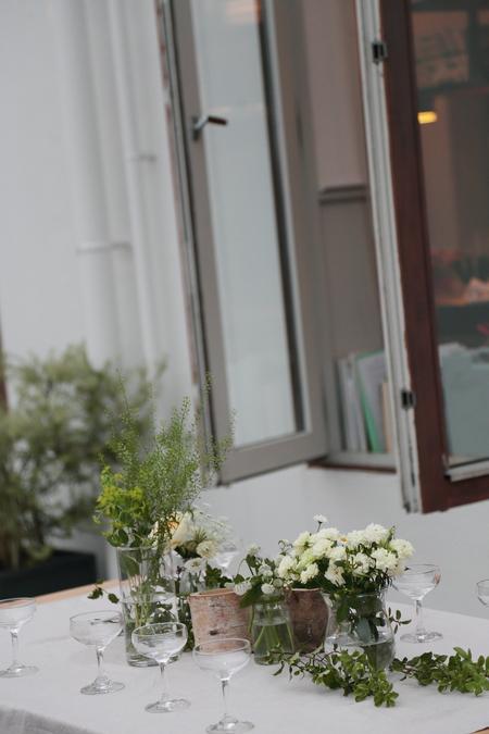 秋の装花 高砂ソファと緑のアーチ 天王洲アイルSOHOLM(スーホルム)様へ_a0042928_1253395.jpg