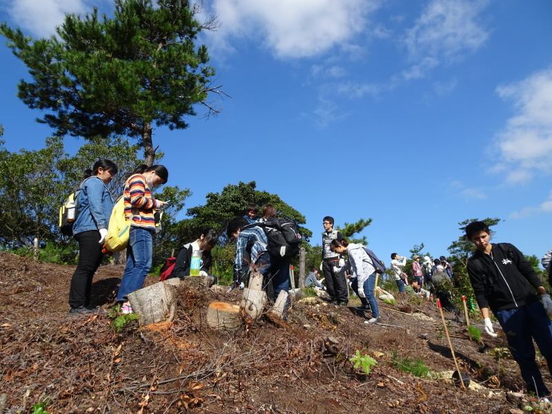岬高校「山海人プロジェクト2016 」  in 孝子の森  by  (TATE-misaki) _c0108460_19244568.jpg