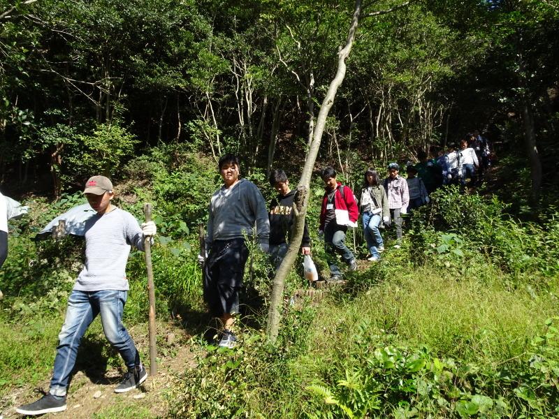 岬高校「山海人プロジェクト2016 」  in 孝子の森  by  (TATE-misaki) _c0108460_19281436.jpg