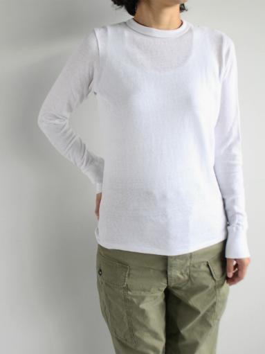 n100 エヌワンハンドレッド 柔らかい質感のクルーネックTシャツ_b0139281_1747084.jpg