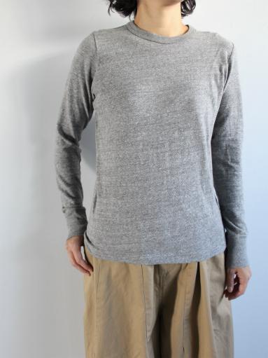 n100 エヌワンハンドレッド 柔らかい質感のクルーネックTシャツ_b0139281_17472339.jpg