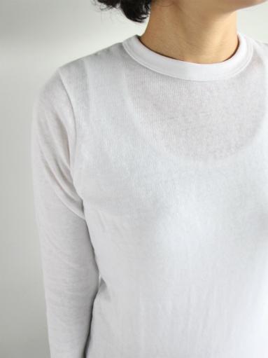 n100 エヌワンハンドレッド 柔らかい質感のクルーネックTシャツ_b0139281_1749184.jpg