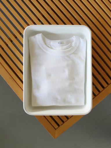 n100 エヌワンハンドレッド 柔らかい質感のクルーネックTシャツ_b0139281_1749465.jpg