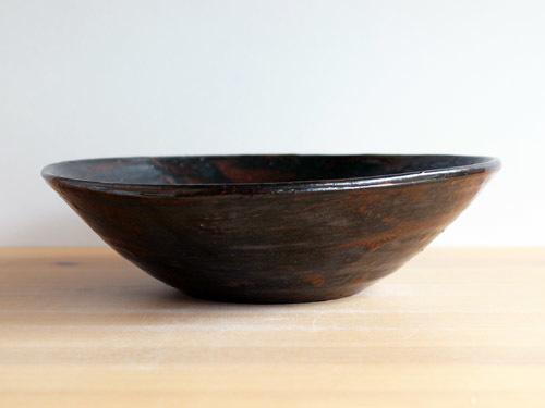福永芳治さんの柿釉の鉢。_a0026127_16102430.jpg