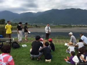 近江舞子内湖でたらい舟_e0008880_11242543.jpg