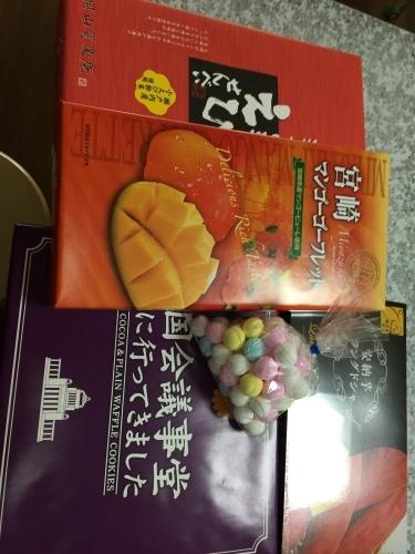大島紬&山積みのお土産_a0125981_19061882.jpg