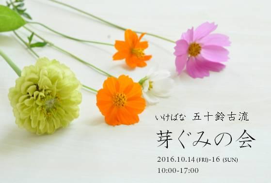 いけばな展 芽ぐみの会_c0350090_21333043.jpg