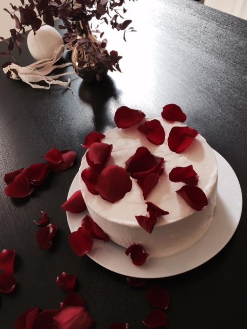 Chiffon Cake with rose petals_c0352090_12250449.jpg