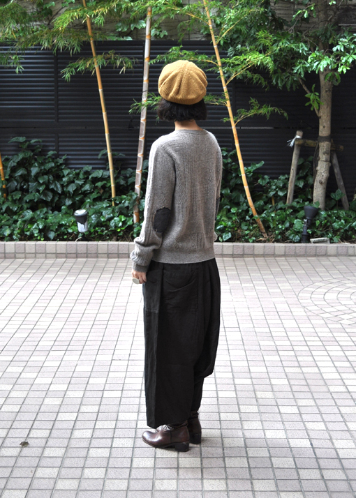 ヤク 柄編みエルボーパッチセーター / FACTORY_d0193211_20244679.jpg