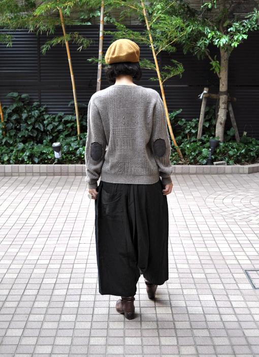 ヤク 柄編みエルボーパッチセーター / FACTORY_d0193211_2025028.jpg
