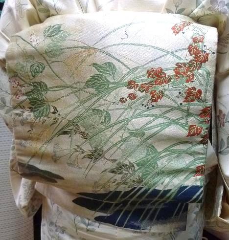 野田淳子さんコンサート・秋草の着物と帯・営業のお知らせ。_f0181251_1615764.jpg