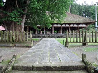 会津の建築:熊野神社長床_c0195909_1116648.jpg