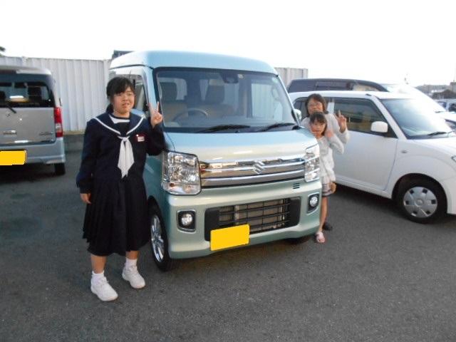 祝☆納車 新車 エブリイワゴン ご成約ありがとうございました(*´v`)ノ_c0213517_14505091.jpg