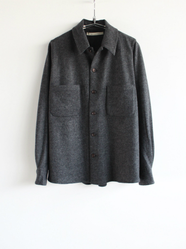 Honor gathering mix wool voile knit shirt_b0139281_15565585.jpg