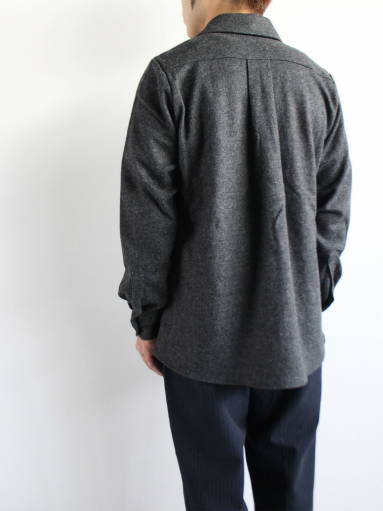 Honor gathering mix wool voile knit shirt_b0139281_15581347.jpg