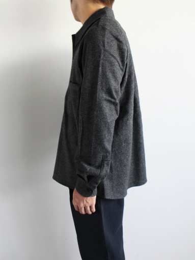 Honor gathering mix wool voile knit shirt_b0139281_1558427.jpg
