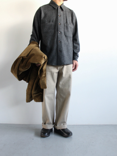 Honor gathering mix wool voile knit shirt_b0139281_15593385.jpg