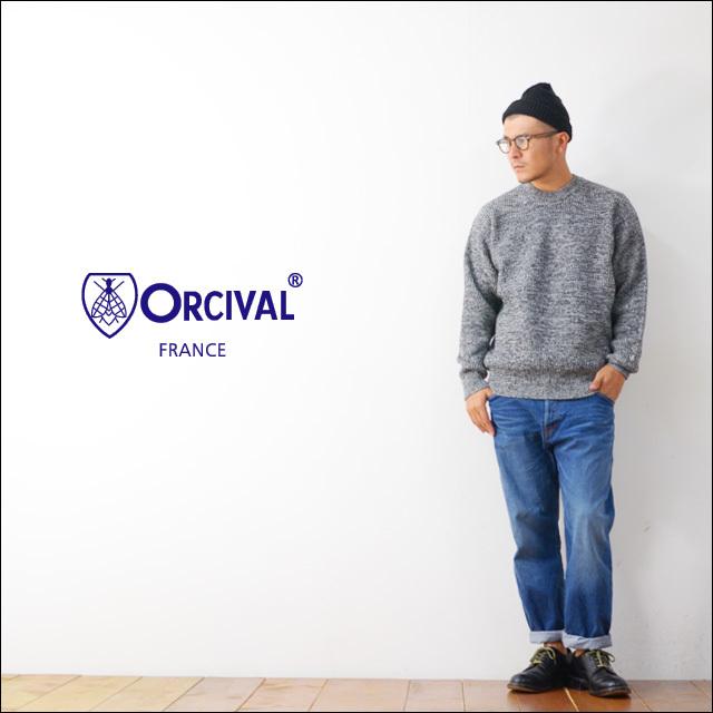 ORCIVAL[オーチバル・オーシバル] 畦編みワイドクルーネックプルオーバー [RC-4244] MEN\'S_f0051306_12025664.jpg