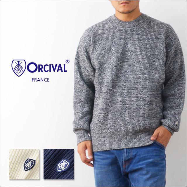 ORCIVAL[オーチバル・オーシバル] 畦編みワイドクルーネックプルオーバー [RC-4244] MEN\'S_f0051306_12025699.jpg