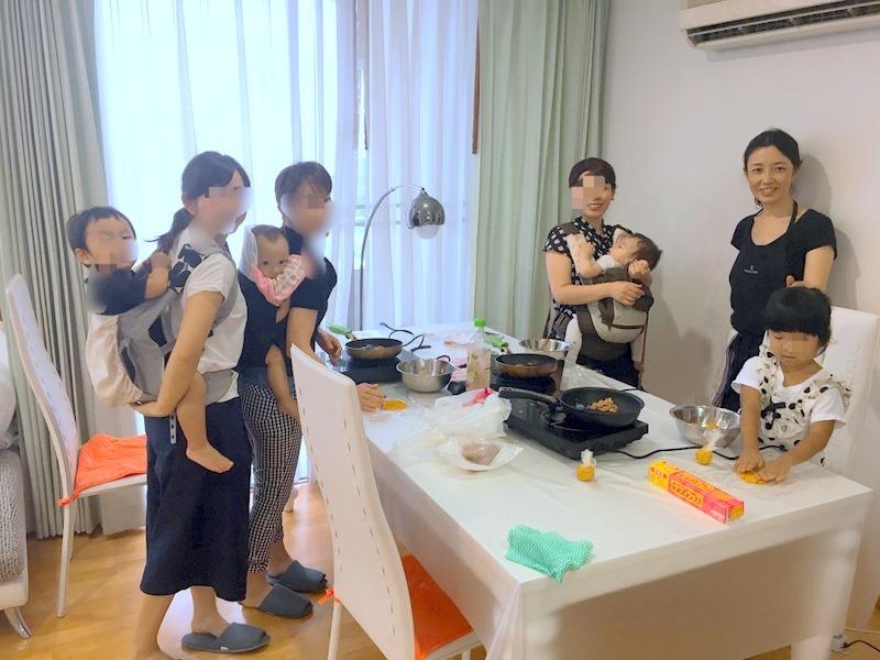 キッズクッキング「かぼちゃ茶巾」in bangkok_f0141419_09554759.jpg