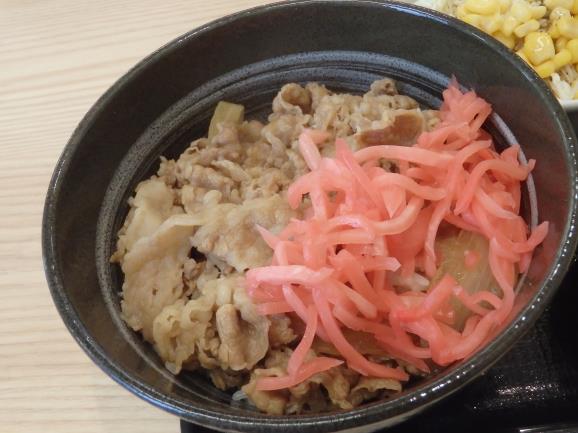 吉野家のコモサラセット    長田五番町店_c0118393_10542155.jpg
