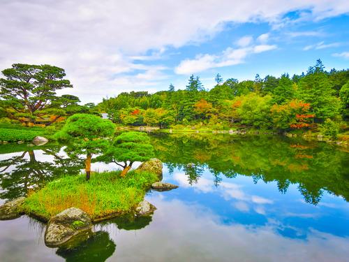 2016.10.29色づき始めた日本庭園の紅葉(昭和記念公園)_e0321032_14505986.jpg