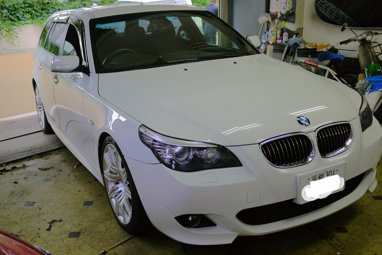 BMW525i Mスポーツ 天井張替え準備_d0171835_1065866.jpg