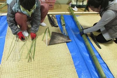 竹かご教室(入門)4日目(最終日)_a0123836_1039041.jpg