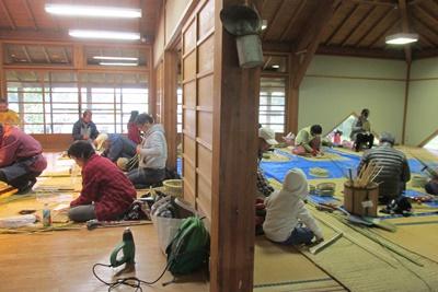 竹かご教室(入門)4日目(最終日)_a0123836_1319332.jpg