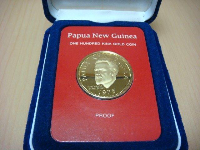 アンティーク パプアニューギニア 金貨_a0167071_18182790.jpg