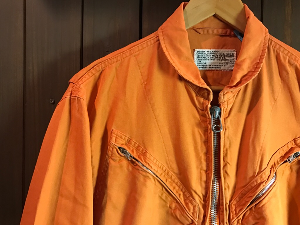 神戸店11/2(水)ヴィンテージ入荷!#1  USN Vintage!Indian Orange Flight Suit,N-1JKT!!!_c0078587_221958100.jpg