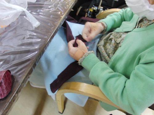編みもの&裁縫 ~ 編み物ポシェット ~_e0222340_1529131.jpg