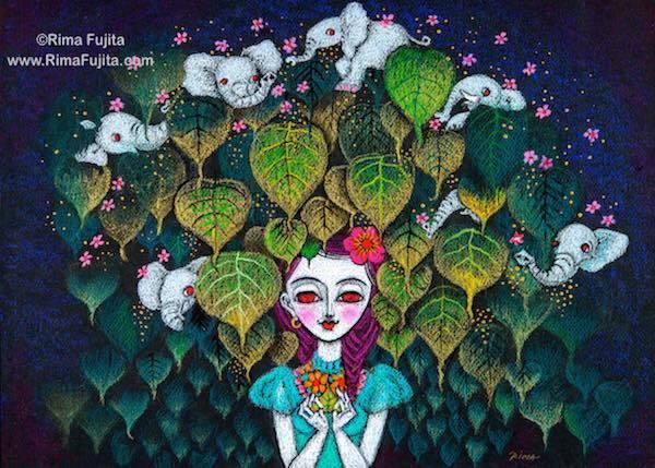 藤田理麻さんの新作個展『巡礼 魂の旅』へ。_a0138976_10455944.jpg
