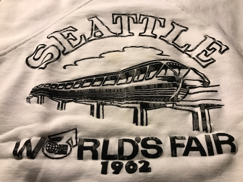 神戸店11/2(水)ヴィンテージ入荷!#3  Seattle World\'s Fair 62\' Sweat!Vintage Sweat!!!_c0078587_13144874.jpg