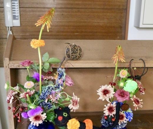 「お花のこよみ教室」ハロウィン_c0128489_21174766.jpeg