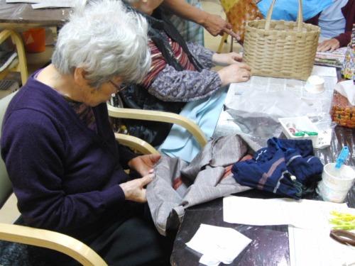 裁縫 ~ エコクラフトハンドバックの内袋 ~_e0222340_175425.jpg