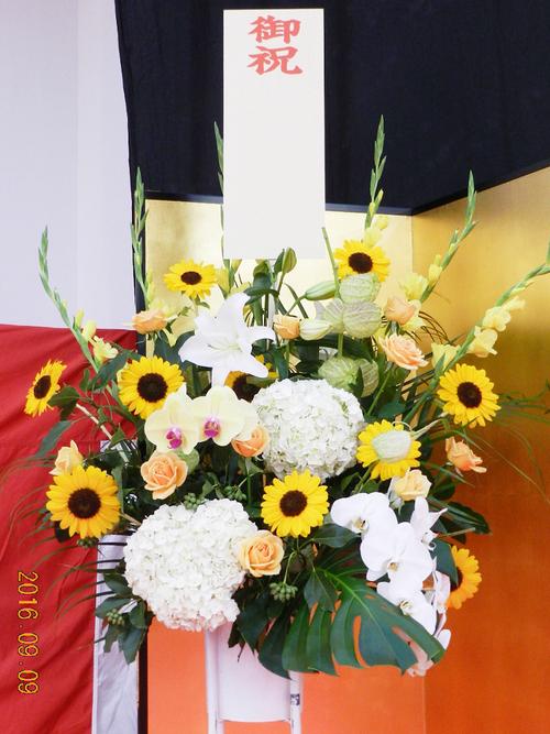 式典用スタンド花_a0302448_9153461.jpg