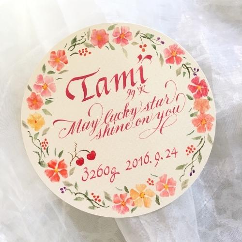 たみちゃんのベビーカード_b0105897_02042261.jpg