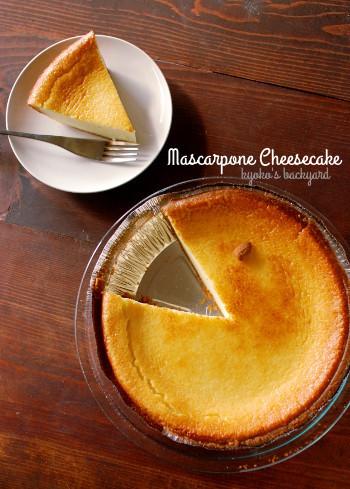 マスカルポーネのチーズケーキ_b0253205_05434014.jpg
