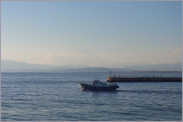 写生地・江ノ島からの富士_a0086270_18030761.jpg