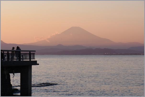 写生地・江ノ島からの富士_a0086270_18043296.jpg