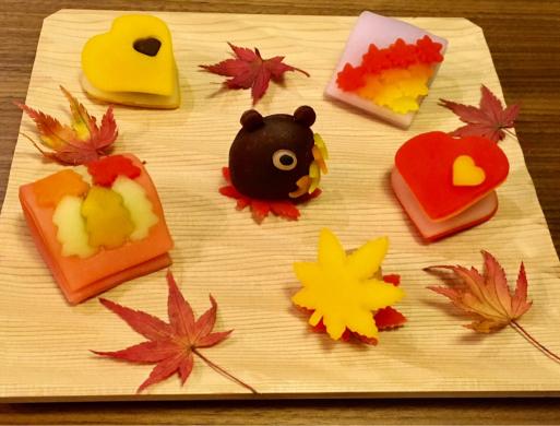 紅葉の和菓子_c0223630_22141692.jpg