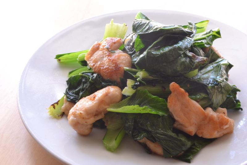 鶏ささみと小松菜の炒め物_d0122797_6251175.jpg