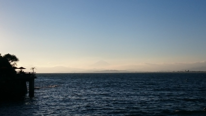 夕陽と富士山@江の島_b0042308_17535375.jpg