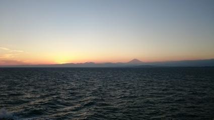 夕陽と富士山@江の島_b0042308_17561587.jpg