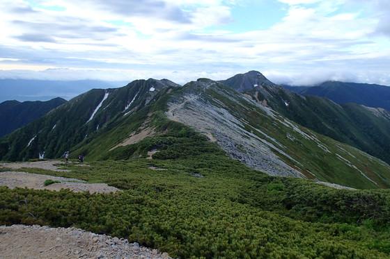 大天井岳と常念岳_e0360016_17312383.jpg