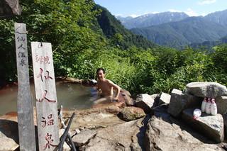 剱沢雪渓と水平歩道_e0360016_17312958.jpg